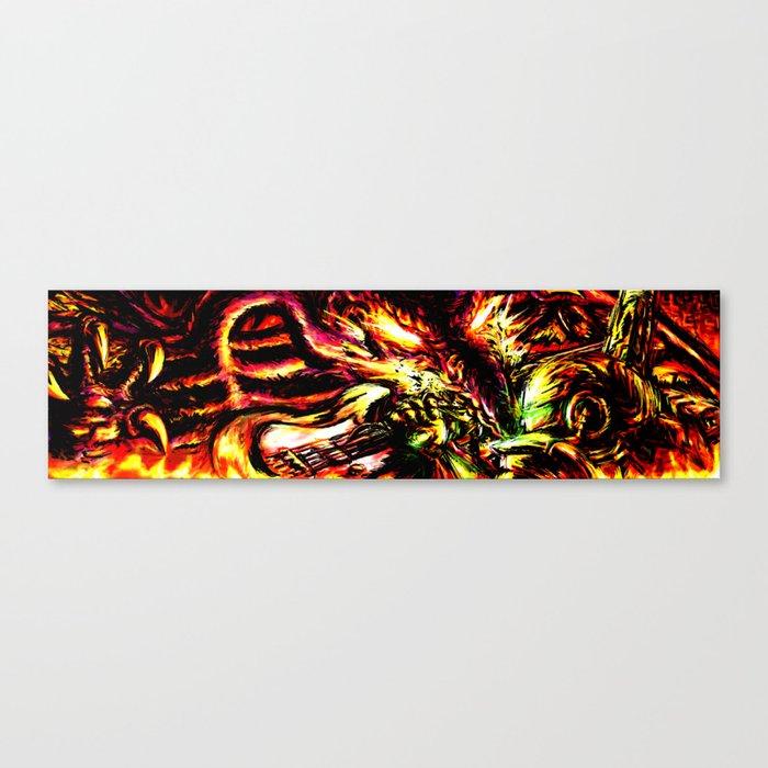 Metroid Metal: Ridley- Through the Fire.. Canvas Print
