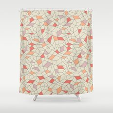 mod colorblock mesh Shower Curtain