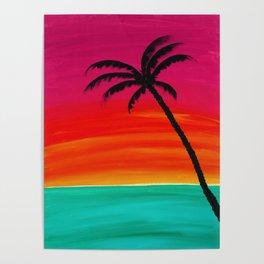 Sunset Palm 2 Poster