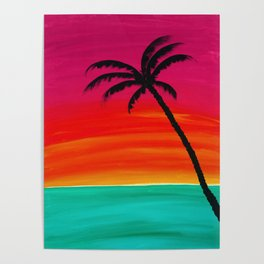 Sunset Palm 2 Poster