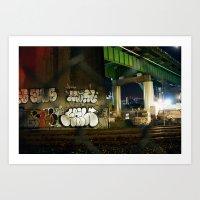 Nighttime Junk Art Print