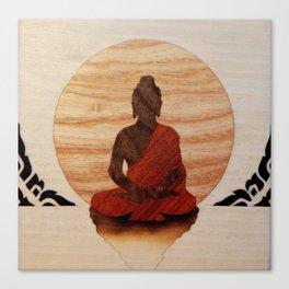 Buddha marquetry Canvas Print