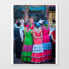 Flamenco Dancers Waiting Canvas Print
