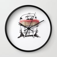 dracula Wall Clocks featuring Dracula by Ana Sofia Santos