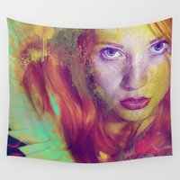 angel Wall Tapestries featuring Angel by Joe Ganech
