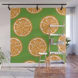 Orange Pattern Wall Mural