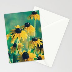 Emerald and Topaz Summer Botanical -- Prairie Coneflower / Mexican Hat Flower Stationery Cards