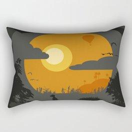 Spooky landscape Rectangular Pillow