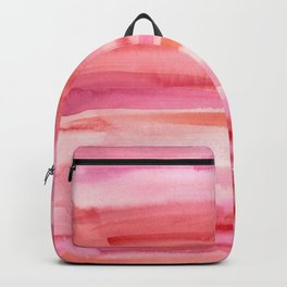 Cherry Stripes Abstract Watercolor Backpack