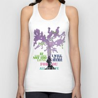 oscar wilde Tank Tops featuring Oscar Wilde #3 I will wait here by bravo la fourmi