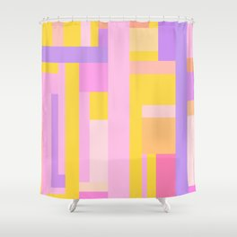 Pink Purple Geometry Shower Curtain