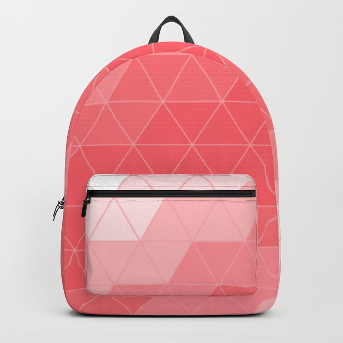 Coral Red Triangles Backpack