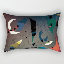 Miró's Ghost Wakes Up from a Bad Reality Rectangular Pillow