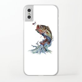 Bass Fish Clear iPhone Case