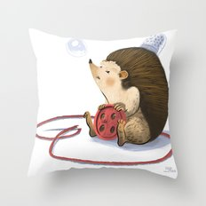 Hedgy Throw Pillow
