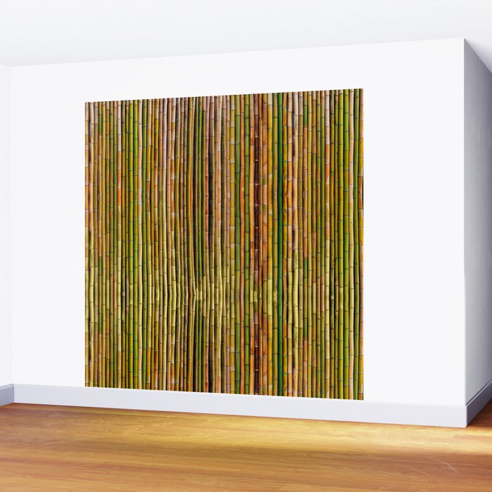 Bamboo fence, texture Wall Mural