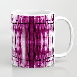 Black Cherry Plaid Shibori Coffee Mug