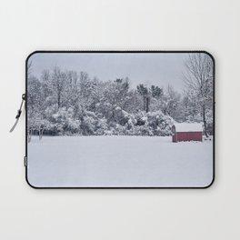 Snowy Day, Bennington VT Laptop Sleeve