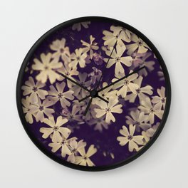 Blazing in Gold and Quenching in Purple Wall Clock