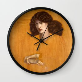 Dante Gabriel Rossetti, The Lady of Pity, 1881 Wall Clock