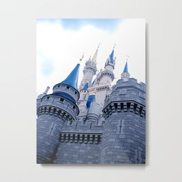 Disney Castle In Color Metal Print
