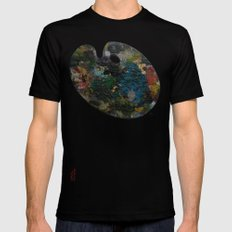 palette Black LARGE Mens Fitted Tee