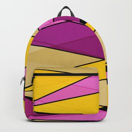 Abstract, geometric, multicolored Backpack