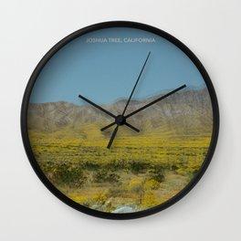 Trippy Joshua Tree super bloom Wall Clock