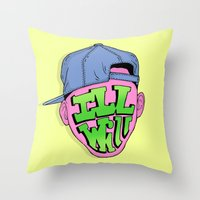 fresh prince Throw Pillows featuring Fresh Prince of Bel Air by shoooes