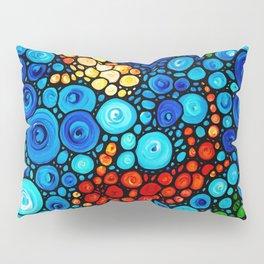 Pure Koi Joi - Mosaic Fish Art Painting by Sharon Cummings Pillow Sham