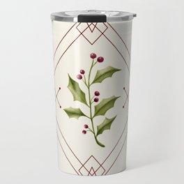 Minimal Holly Jolly #society6 #xmas Travel Mug