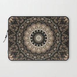 Dark Brown Boho Mandala Laptop Sleeve