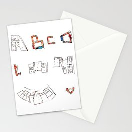 Architecture Alphabet Stationery Cards