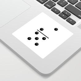 White Domino / Domino Blanco Sticker