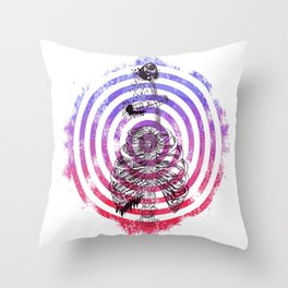 Skeleton Bullseye Throw Pillow