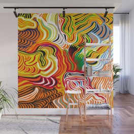 colored flow Wall Mural