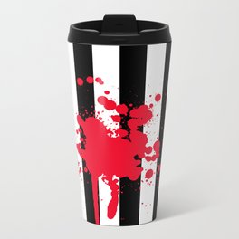 Black and White and Red All Over Metal Travel Mug