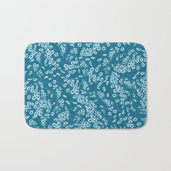 Daisy Dream Blue Bath Mat