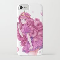 princess bubblegum iPhone & iPod Cases featuring Princess Bubblegum by NaiLyn