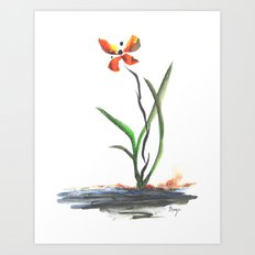 Butterfly Orchid Art Print