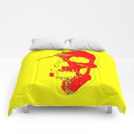 Skull - Red Comforters