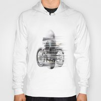 cafe racer Hoodies featuring SKULL AND CAFE RACER by Joedunnz