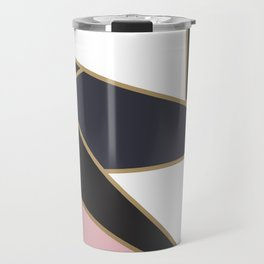 Pink Abstract Geometric Pattern Travel Mug