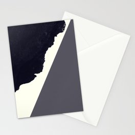 Contemporary Minimalistic Black and White Art Stationery Cards