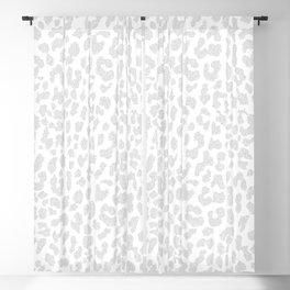 Pale Gray Leopard Blackout Curtain