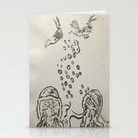 under the sea Stationery Cards featuring Under The Sea Sketch by ANoelleJay