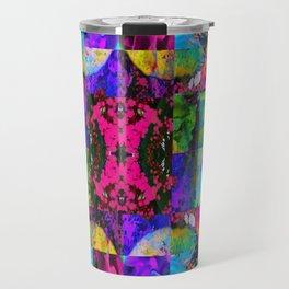 Floral Splatter Travel Mug