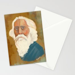 Portrait of Rabindranath Tagore Stationery Cards