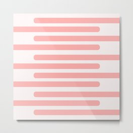 Pink Stripes With Spots Metal Print
