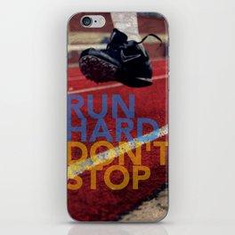 Run Hard. iPhone Skin